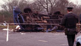 Teebane explosion aftermath in 1992