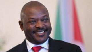 Umukuru w'ingabo z'u Burundi akaba n'umukuru w'igihugu Pierre Nkurunziza