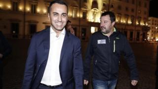 Italy's co-Deputy Prime Ministers Luigi Di Maio (left) and Matteo Salvini. File photo