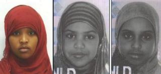 Fardowsa Hassan, Ahlam Salah and Abir Salah