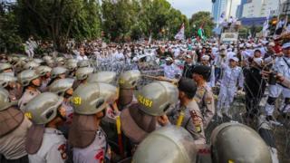 Foto ilustrasi anggota LPI dan FPI di Jakarta