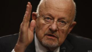 James Clapper, the US top intelligence chief, testifies to Congress