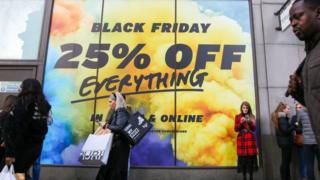 Black Friday shop front