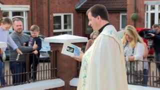 Prayer service for St Teresa in Belfast
