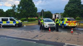 Scene of incident in Swindon