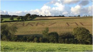 "Tom Plum shredded farm owned by his lover Jeena Stimpson's father with ""MARRY ME"" shape to propose her"