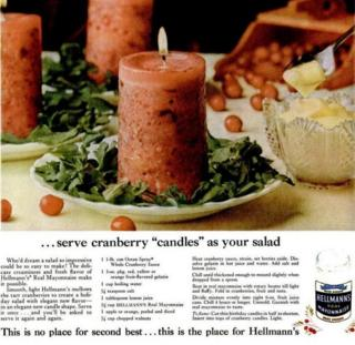 Advert for cranberry candles