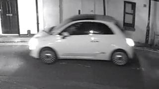 CCTV of a white car