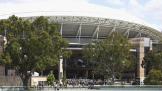 An image of the outside of Adelaide Oval