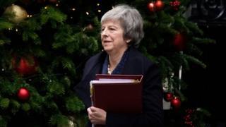 Theresa May at Downing Street