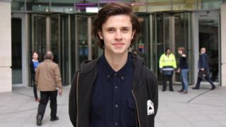 Cel Spellman outside BBC Broadcasting House