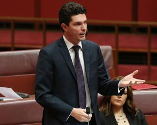 Australian Senator Scott Ludlam is pictured speaking about his nomination for President of the Senate on July 7, 2014.