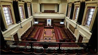 The Senate chamber at Stormont's Parliament Buildings