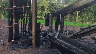 damaged park