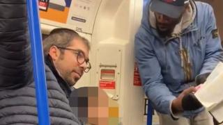 A family being harassed and targeted with antisemitic abuse by a man on a Northern Line train on Friday afternoon.