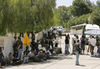 in_pictures The media work outside the house of a luxury resort where Madeleine McCann disappeared in Praia da Luz, Portugal on 9 May 2007