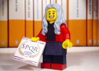 Lego model of Prof Mary Beard
