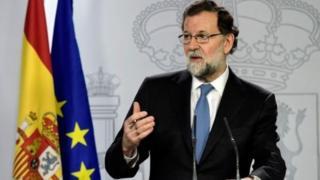آقای راخوی بعد از کسب مجوز از پارلمان اسپانیا درباره برنامه خود برای به دست گرفتن کنترل کاتالونیا سخن گفت
