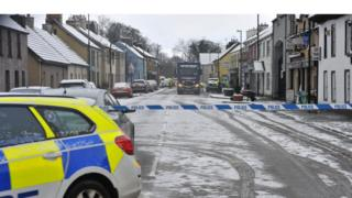 Broughshane where a man was knocked down by a lorry