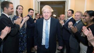 Boris Johnson arrives in No 10