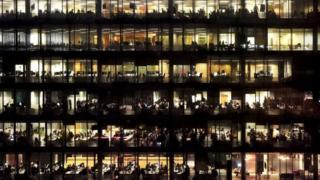 workers in office block