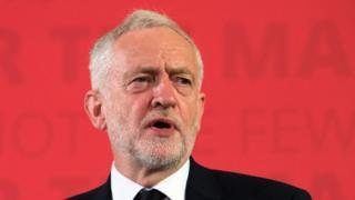 Jeremy Corbyn makes a speech on defence
