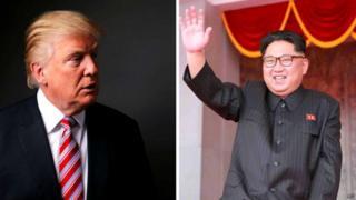 Donlad Trump na Kim Jong-Un