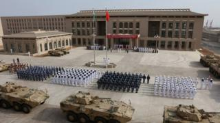 China set up an military base in Djibouti last year