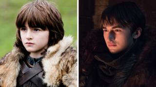 Bran Stark in the first season and eighth