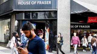 A House of Fraser store in Central London
