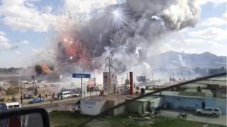 เหตุระเบิดรุนแรงที่ตลาดขายดอกไม้ไฟซาน พาบลิโต ชานกรุงเม็กซิโกซิตี้