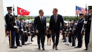 Milli Savunma Bakanı Hulusi Akar ve ABD Savunma Bakan Vekili Shanahan