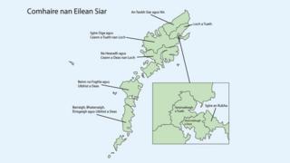 Mapa de na h-Eileanan an Iar