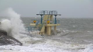Waves on Ireland's west coast