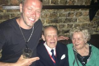 Jacob Husley and Polish couple in nightclub