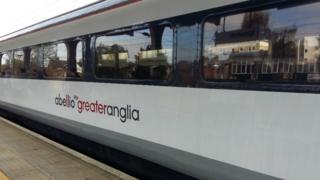 Abellio train at Ipswich station