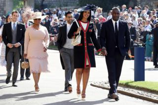 Idris Elba, his fiancee. Sabrina Dhowre and Oprah Winfrey