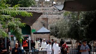 إجراءات أمنية إسرائيلية عند مداخل المسجد الأقصى