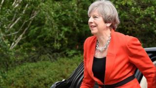 Theresa May in Wales
