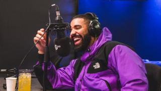 Drake in the 1Xtra studio