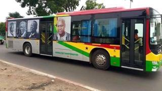 Rebranded buses