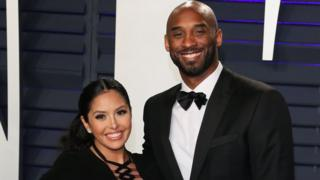 Kobe and Vanessa Bryant on 21 February 2019