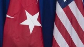 پرچم آمریکا و ترکیه