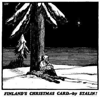 """""""Різдвяна вітальна картка"""" від Сталіна"""