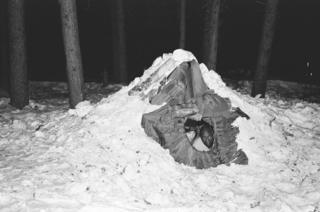 Students in their shelter