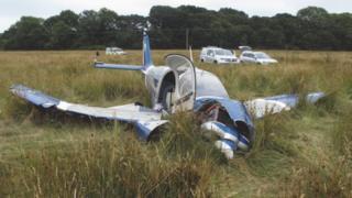 plane at crash site