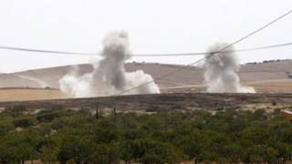 Suriye'den yükselen dumanlar