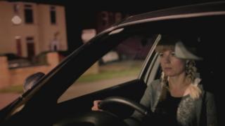 Nicky Owen in car