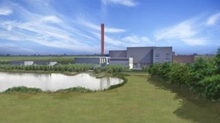Artists impression of Rockery South Energy Recovery Facility