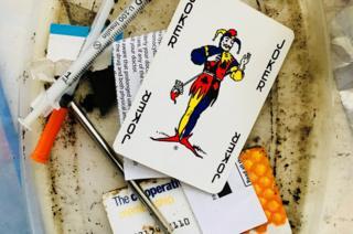 Drug paraphernalia in Lisa Selby's mum's house